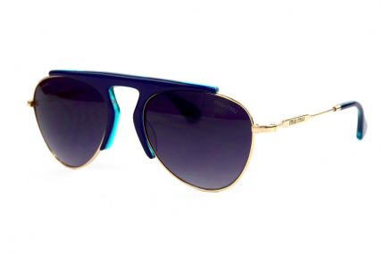 Женские очки Miu Miu 57-21-blue